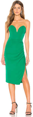 by the way. Christian Strapless Midi Dress