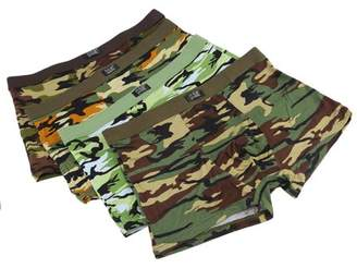Rich 4pcs/Box Soft Breathable Men'S Underwear Military Camouflage Print Boxer Brief