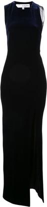 Galvan Crescent thigh-split gown