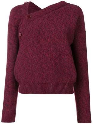 MM6 MAISON MARGIELA asymmetric knitted sweater
