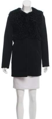 Whit Long Sleeve Shearling Coat