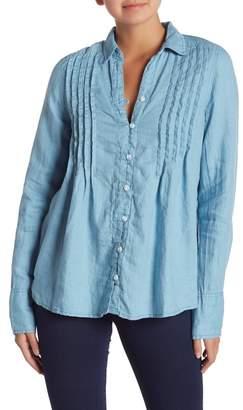 Free People Breezy Mornings Button Down Linen Blend Shirt