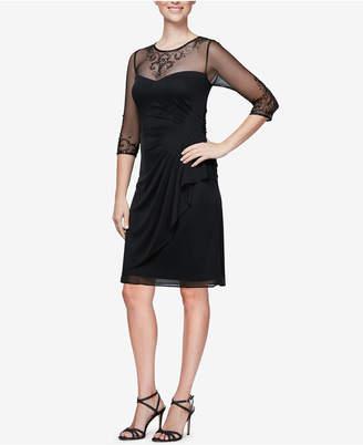 Alex Evenings Embellished Ruched Dress