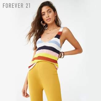 Forever 21 (フォーエバー 21) - Forever 21 マルチボーダーニットタンクトップ