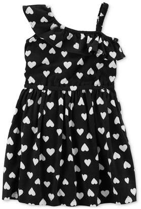 Carter's One-Shoulder Heart-Print Cotton Dress, Little & Big Girls