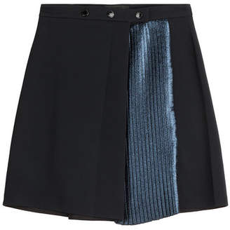 Markus Lupfer Skirt with Metallic Pleats