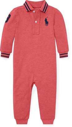 Ralph Lauren Cotton Mesh Polo Coverall