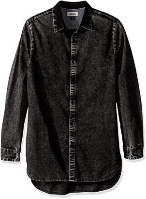 Tommy Hilfiger Tommy Jeans Men's Long Fit Denim Button Down Shirt