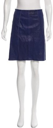 Marc by Marc Jacobs Knee-Length Leather Skirt