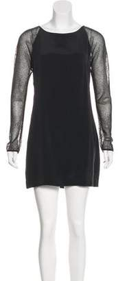 L'Agence Long Sleeve Mini Dress
