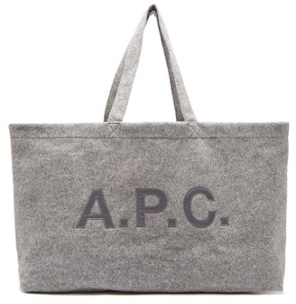 A.P.C. Suzanna Oversized Felt Tote Bag - Womens - Grey