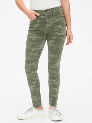 Gap High Rise True Skinny Ankle Jeans in Camo with Secret Smoothing Pockets
