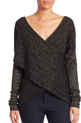 Derek Lam 10 Crosby Women's Long Sleeve Cross-Front Sweater
