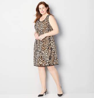 Avenue Leopard Print Sheath Dress