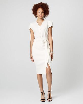 Le Château Stripe Linen Blend Paper Bag Skirt