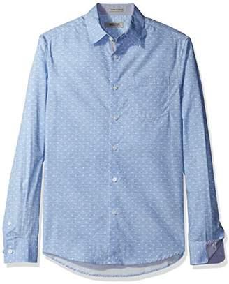 Kenneth Cole Reaction Men's Long Sleeve Slim Print Shirt