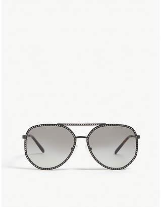 6b0440fee823 Michael Kors MK1039B Miami pilot-frame sunglasses