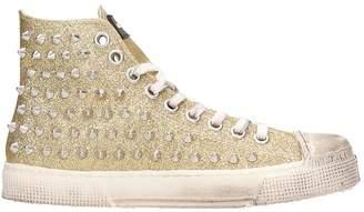 Gienchi Gold Glitter Jean Michel Sneakers