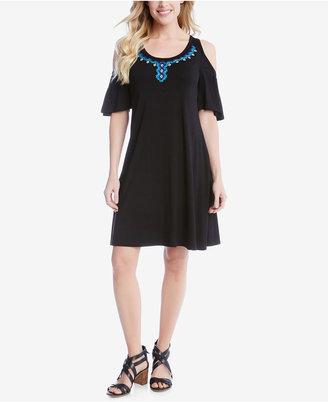 Karen Kane Cold-Shoulder Shift Dress, a Macy's Exclusive Style $118 thestylecure.com