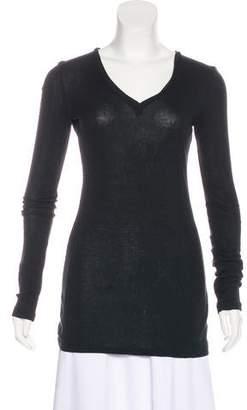 Giambattista Valli Long Sleeve V-Neck T-Shirt
