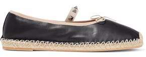 Valentino Studded Leather Espadrille Ballet Flats