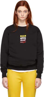 MSGM Black Sweatshirt