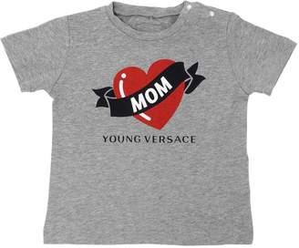 Versace Heart Printed Cotton Jersey T-Shirt