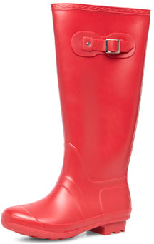 Dorothy Perkins Red knee wellington boots