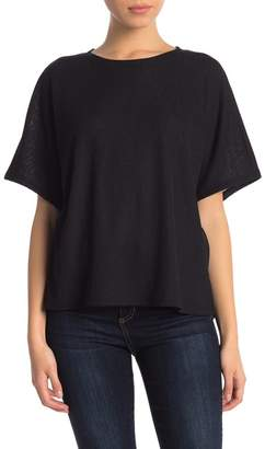 14th & Union Boatneck Textured Top (Petite)