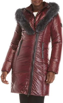 Ookpik Contessa Real Fur Trim Hooded Down Coat