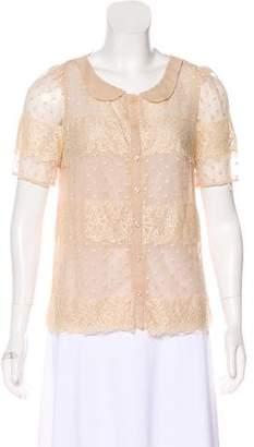 Mcginn Lace Short Sleeve Top