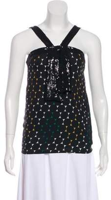 Tory Burch Silk Abstract Print Top