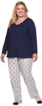 Sonoma Goods For Life Plus Size SONOMA Goods for Life 3-Piece Tee, Pants & Sock Pajama Set