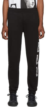 Moncler (モンクレール) - Moncler ブラック ロゴ ラウンジ パンツ