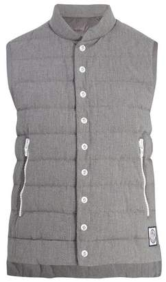 COM · Moncler Quilted Down Cotton Gilet - Mens - Grey