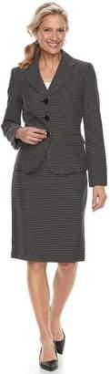 Le Suit Women's Dot Jacket & Skirt Suit