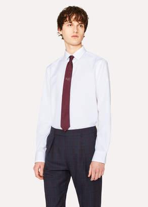 Paul Smith Men's Tailored-Fit White Cotton 'Signature Stripe' Cuff Shirt