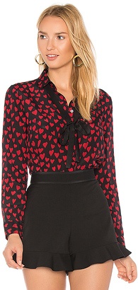 Red Valentino Heart Print Shirt in Black $595 thestylecure.com