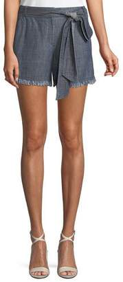 Trina Turk Anaheim Chambray Shorts w/ Tie Belt
