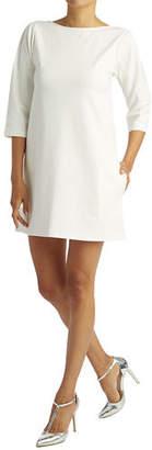 Ripley Rader Boat-Neck 3/4-Sleeve Mini Ponte Dress