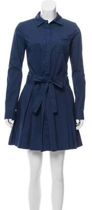 Diane von Furstenberg Long Sleeve Pleated Dress