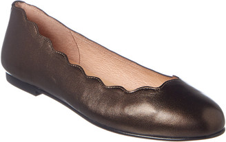 French Sole Razor Leather Flat