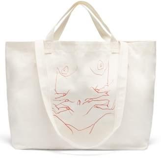 Luella Hillier Bartley Sketch Canvas Tote - Womens - Cream
