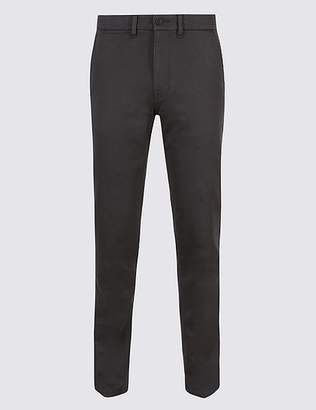 Marks and Spencer Italian Cotton Travel Chinos with Stretch