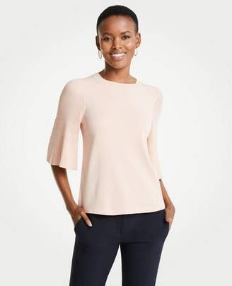 Ann Taylor Pleated Sleeve Sweater