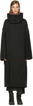 Yohji Yamamoto Black Oversized Coat $3,410 thestylecure.com