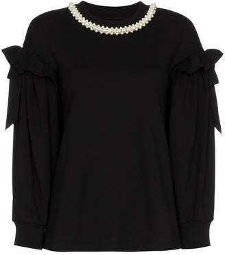 Simone Rocha pearl embellished collar top