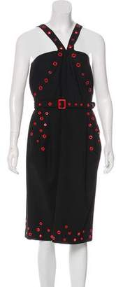 Jean Paul Gaultier Wool Grommet Dress