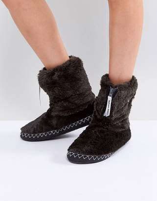 Bedroom Athletics Marilyn Short Faux Fur Slipper Boot