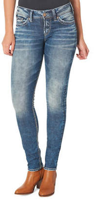 Silver Jeans Elyse Mid-Rise Skinny Jeans